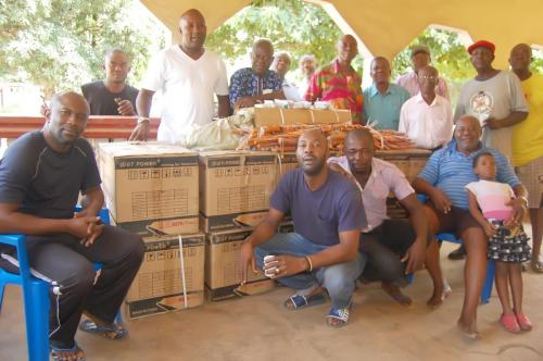Another section of the Obioha family with items donated by the Adure and Onyima Obioha foundation to the family during the Easter period.