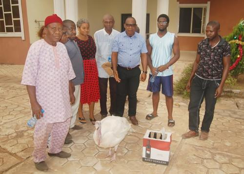 THE NDIUCHEAGWU COMMUNITY APPRECIATED THE FOUNDATION WITH THESE ITEMS