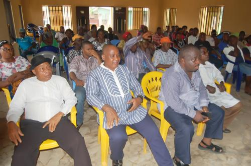 Another cross section of the  community  at the Adure Memorial Hall during the presentations.