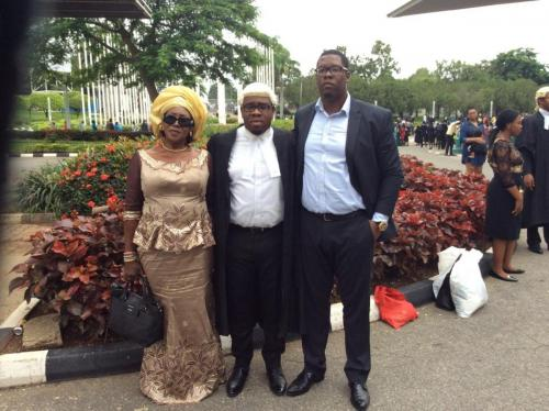 Barrister E.C Iphie with is mother and older brother