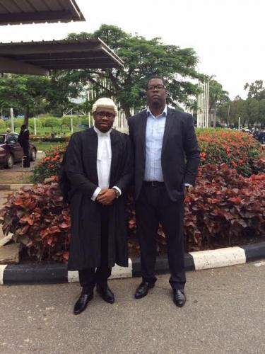 Barrister E.C Iphie with older brother