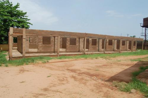 A block of class rooms being constructed by the Adure and Onyima Obioha Foundation at the St. Mark's church Arondizuogu to help in educating the young ones.