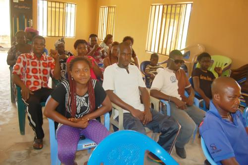 A cross section of  Ndiucheagwu people during the presentation.