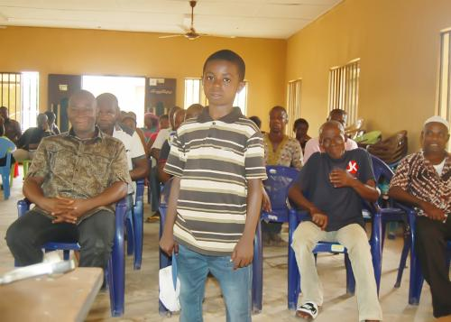 The 10 years old primary 6 scholar who has distinguished  himself at the Ndiucheagwu community.
