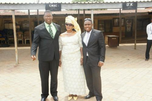 Dr. Ikechukwu Iphie with mom and brother