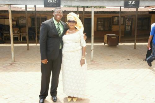 Dr. Ikechukwu Iphie with mother