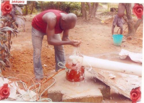 Mr. Okezie Kevin Chibueze doing the contruction work